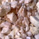La partie comestible, à l'intérieur de la coque